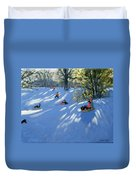 Early Snow Duvet Cover by Andrew Macara