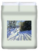 Early Snow Darley Park Duvet Cover by Andrew Macara