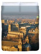 Edinburgh on a Winter's Day Duvet Cover by Christine Till