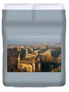 Edinburgh On A Winter's Day Duvet Cover by Christine Till
