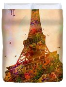 Eiffel Tower  Duvet Cover by Mark Ashkenazi