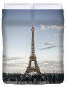Eiffel Tower Paris Duvet Cover by Melanie Viola