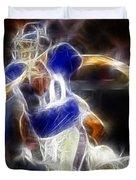 Eli Manning Quarterback Duvet Cover by Paul Ward
