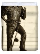 Ernest Hemingway The Old Man And The Sea Duvet Cover by Bill Cannon