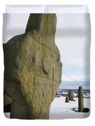 Errigal Keerouge Cross, St Kierans Duvet Cover by The Irish Image Collection