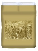 Escaping To Underground Railroad Duvet Cover by Photo Researchers