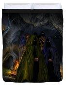 Evil Speaking Duvet Cover by Alessandro Della Pietra