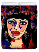 Exotic Woman Duvet Cover by Natalie Holland