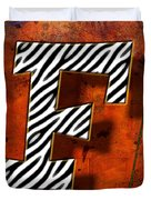 F Duvet Cover by Mauro Celotti