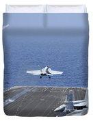 Fa-18f Super Hornets Launch Duvet Cover by Stocktrek Images