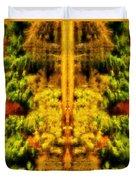 Fall Abstract Duvet Cover by Meirion Matthias