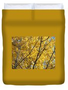 Fall Trees Art Prints Yellow Autumn Leaves Duvet Cover by Baslee Troutman