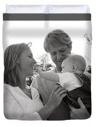 Family Portrait Duvet Cover by Michelle Quance