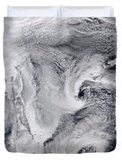Far Eastern Russia Covered In Snow Duvet Cover by Stocktrek Images
