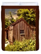 Farming Shed Duvet Cover by Lourry Legarde