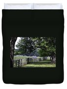 Farmland Shade Appomattox Virginia Duvet Cover by Teresa Mucha