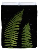 Fern Leaves With Water Droplets Duvet Cover by Deddeda