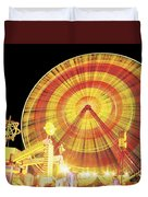 Ferris Wheel And Other Rides, Derry Duvet Cover by The Irish Image Collection