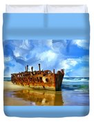 Final Resting Place Duvet Cover by Dominic Piperata