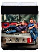 Fire Engine One Duvet Cover by Vincent Cascio