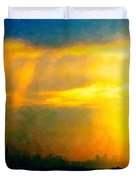 Fire In The City Duvet Cover by Wingsdomain Art and Photography