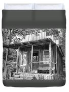 Fireman Cottage B And W Duvet Cover by Douglas Barnard