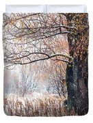 First Snow. Old Tree Duvet Cover by Jenny Rainbow