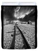 Fishing Boat Graveyard 6 Duvet Cover by Meirion Matthias