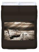 Fishing Boat Graveyard 9 Duvet Cover by Meirion Matthias