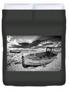 Fishing Boat Graveyard Duvet Cover by Meirion Matthias