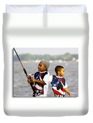 Fishing Brothers Duvet Cover by Brian Wallace
