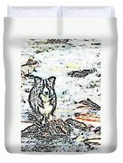 Fizz In The Blend  Duvet Cover by Vicky  Hutton