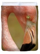 Flamingo Head Duvet Cover by Carlos Caetano