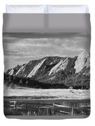 Flatirons From Chautauqua Park Bw Duvet Cover by James BO  Insogna