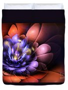 Floral Flame Duvet Cover by John Edwards