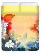Floral Neklace Duvet Cover by Anil Nene
