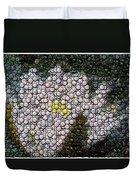 Flower Bottle Cap Mosaic Duvet Cover by Paul Van Scott