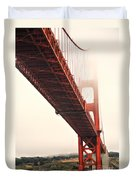 Fog Lifting At The Golden Gate Duvet Cover by Cheryl Young