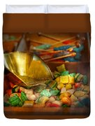 Food - Candy - One Scoop Of Candy Please  Duvet Cover by Mike Savad