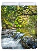 Forest Jewel Duvet Cover by Debra and Dave Vanderlaan