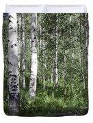 Forever Aspen Trees Duvet Cover by Madeline Ellis