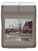 Four Corners At Bidwell Parkway Duvet Cover by Ylli Haruni