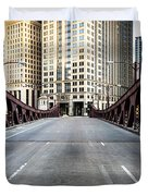 Franklin Orleans Street Bridge Chicago Loop Duvet Cover by Paul Velgos