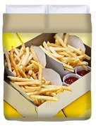 French Fries In Box Duvet Cover by Elena Elisseeva