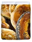 Fresh bagels Duvet Cover by Elena Elisseeva
