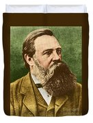Friedrich Engels, Father Of Communism Duvet Cover by Photo Researchers