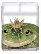 Frog And Grasshopper Duvet Cover by Darwin Wiggett