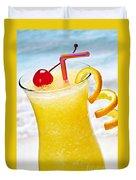 Frozen Tropical Orange Drink Duvet Cover by Elena Elisseeva