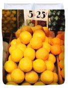 Fruit Market - Painterly - 7D17401 Duvet Cover by Wingsdomain Art and Photography