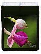 Fuchsia Flower Duvet Cover by Elena Elisseeva